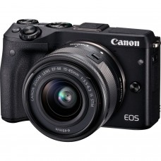 Canon EOS M3 Mirrorless Camera + EF-M 15-45mm f/3.5-6.3 IS STM Lens (Black)